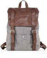 Brunello Cucinelli Leather & Wool Backpack
