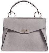 Proenza Schouler 'Medium Hava' Top Handle Calfskin Leather Satchel - Grey