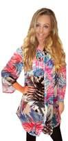 Boutique 9 Boutique 78536 Ladies Tropical Kaftan Blue - Size - Medium - 12 - 14