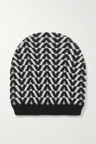 Thumbnail for your product : Valentino Garavani Wool And Cashmere-blend Jacquard Beanie - Black