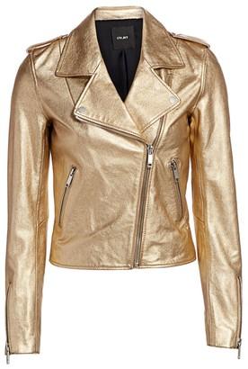 LTH JKT Kas Metallic Leather Moto Jacket