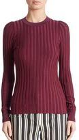 Altuzarra Reagan Rib-Knit Crewneck Sweater