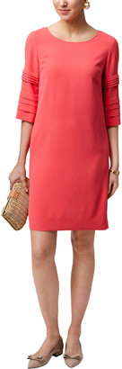 Weill Gabi Coral 3/4 Pleated Sleeves Tunic Dress