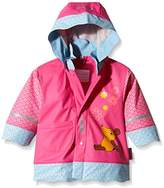 Playshoes Girl's Mouse Flowers Waterproofs Raincoat,(Manufacturer Size:140)