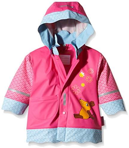 Playshoes DIE MAUS Girl's Mouse Flowers Waterproofs Raincoat,(Size:140)