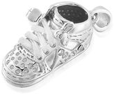 Bling Jewelry 925 Sterling Silver High Top Sneaker Baby Shoe Charm Pendant