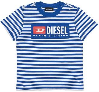 Diesel Striped Cotton Jersey T-shirt