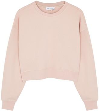 Ninety Percent Pink Cropped Organic Cotton Sweatshirt