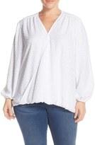 Melissa McCarthy Plus Size Women's Drape Front Blouse