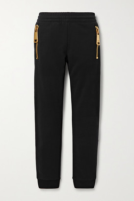 Moschino Cotton-jersey Track Pants - Black