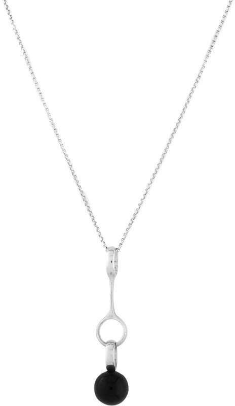 Georg Jensen Sphere agate pendant and sterling silver necklace