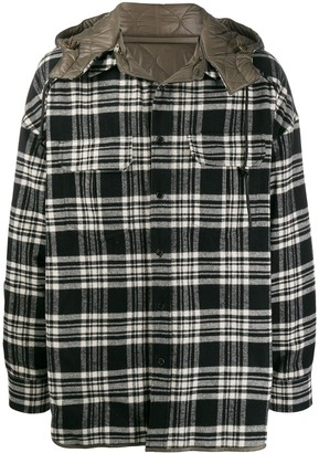 Juun.J Hooded Shirt Jacket