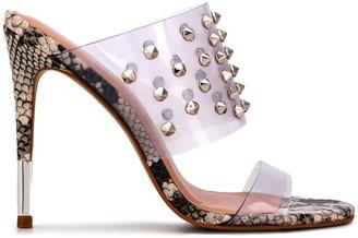 Carvela Snakeskin Effect Studded Sandals