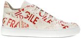 MM6 MAISON MARGIELA fragile pattern sneakers - women - Calf Leather/Patent Leather/rubber - 35
