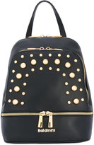 Baldinini studded backpack - women - Cotton/Leather/metal - One Size