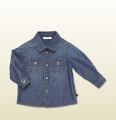 Gucci Denim Long Sleeve Shirt