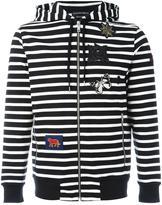 Alexander McQueen striped hoodie - men - Cotton/Polyester/copper - XXS