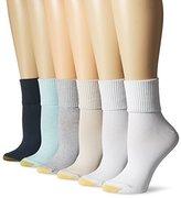 Gold Toe Women's Turn Cuff Sock (Pack of 6)