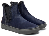 Mou Eskimo Stitch Navy Chelsea Boot