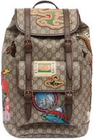 Gucci Patched Gg Supreme Backpack