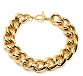 Ben-Amun Gold Chain Link Necklace