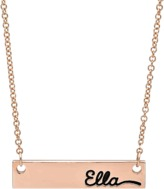 Avanessi Single Sided Name Plate Necklace