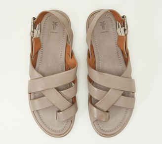 Frye Leather Toe-Loop Sling-Back Sandals - Tait