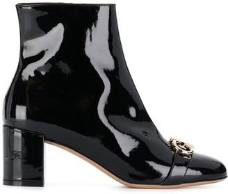 Salvatore Ferragamo Gancio varnished boots