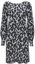 Wallis Grey Animal Print Knitted Tunic Dress