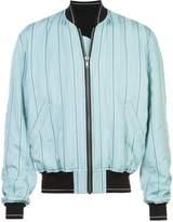 Haider Ackermann boxy striped bomber jacket