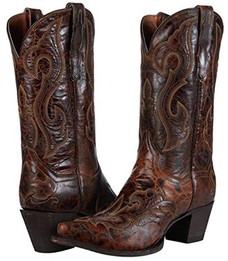Dan Post Marcella (Dark Brown Leather) Women's Shoes