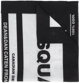 DSQUARED2 Care Label Print Scarf