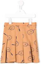 Bobo Choses tennis racket print pleated skirt