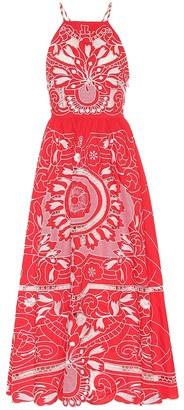RED Valentino Embroidered cotton midi dress