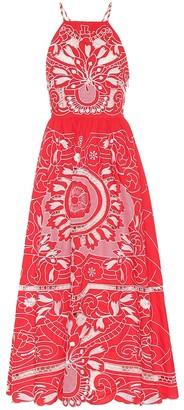 RED Valentino embroidered cotton midi dress