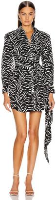 Redemption Zebra Printed Shirt Dress in Black & White Zebra   FWRD