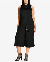City Chic Trendy Plus Size Belted Culottes