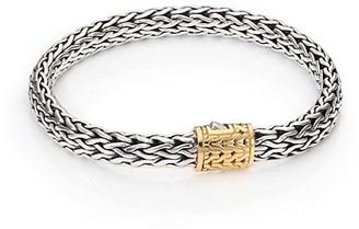 John Hardy Classic Chain Medium 18K Yellow Gold & Sterling Silver Bracelet