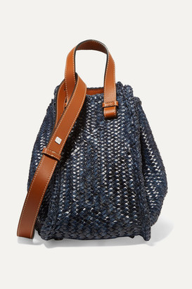 Loewe Hammock Small Woven Leather Tote - Navy
