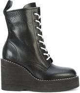 Sacai wedge heeled boots