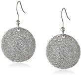 Karen Kane Sandy Beach Disc Silver Drop Earrings
