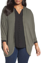 Sejour Ribbed Dolman Cardigan (Plus Size)