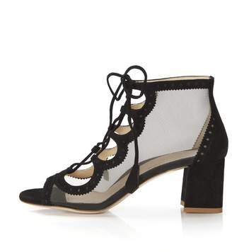 Marion Parke Brooke | Lace-Up Mesh Block Heel