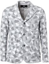 Anrealage geometric print jacket - men - Cotton/Cupro - 50