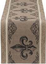 DESIGN IMPORTS Design Imports Fleur De Lis Stripe Jacquard Table Runner