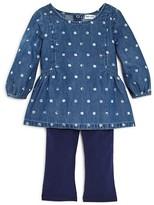 Splendid Infant Girls' Dot Denim Top & Knit Leggings Set - Sizes 6-24 Months
