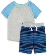 Splendid Boys' Raglan Tee & Striped Shorts Set - Sizes 2T-7