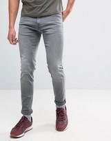 Edwin Ed-85 Slim Tapered Drop Crotch Jean Very Light Trip Used Wash