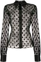 Styland sheer dotted blouse
