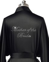 Remedios Satin Robes Bridal Wedding Party Night Dressing Gowns for Maid of Honor, Navy Blue, L